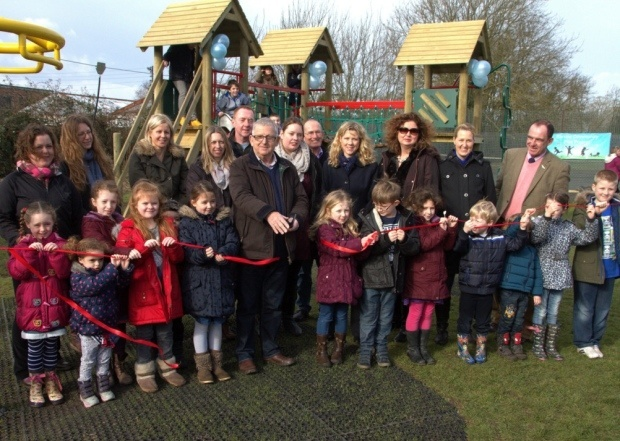 Barrow Park Residents at their new playground