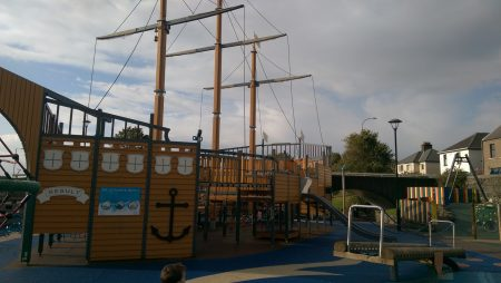 Huge Pirate Ship at Marine gardens play park, Carrickfergus