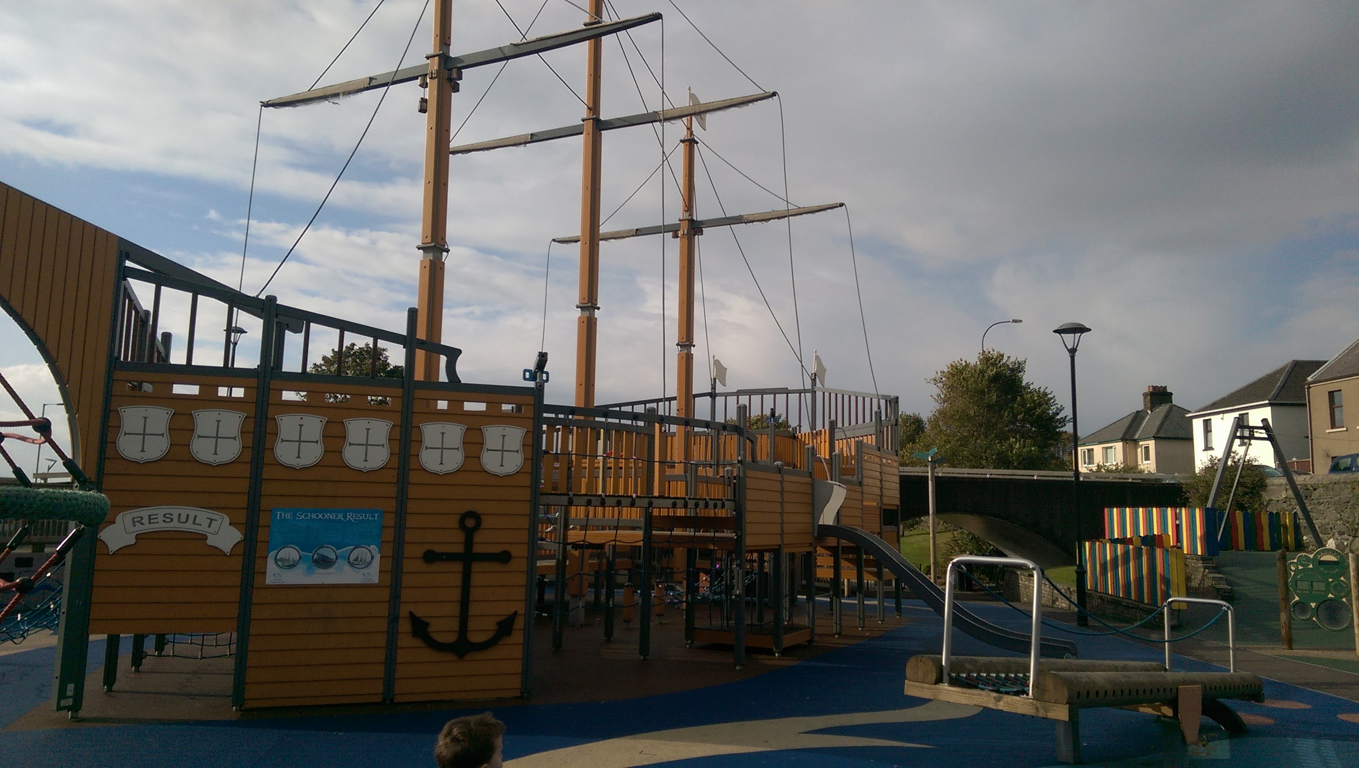 Huge Pirate Ship at Marine gardens play park, Carrickfergus